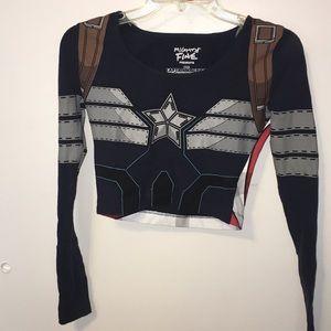 Captain America Crop Top